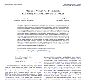 men and women are from earth