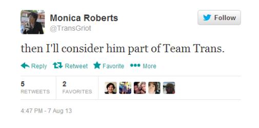then I'll consider him part of Team Trans.
